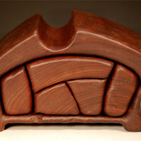 Walnut Sculptural Jewelry Box with special hiding place (W-71)