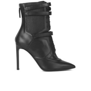 BOSS Hugo Boss Women's Judy Lace Up Leather Heeled Ankle Boots - Black