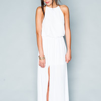 Show Me Your mumu Heather Halter Dress ~ White Crisp