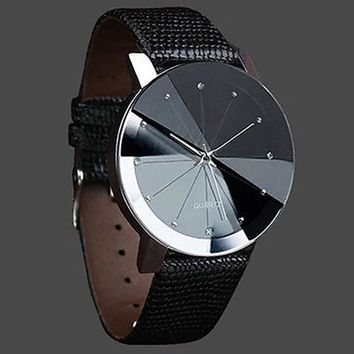 New Fashion Minimalist Men's Black Wrist Watches Leather Watchband Luxury Brand Simple Male Quartz Clock 2017 relojes hombre