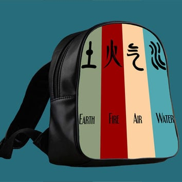 Avatar 4 Elements Design for Backpack / Custom Bag / School Bag / Children Bag / Custom School Bag *