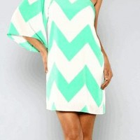 Spearmint Chevron Dress
