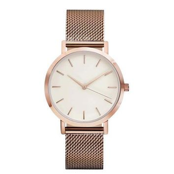 Rose Gold Thin Dial Minimalist Watch