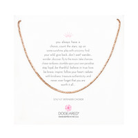 Sparkle Chain Choker Necklace, Rose Gold | Dogeared