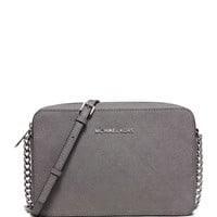 Jet Set Travel Large East-West Quilted Crossbody Bag, Steel Gray - MICHAEL Michael Kors