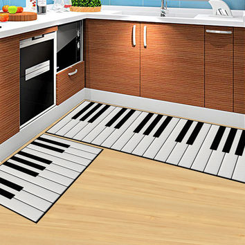 Piano Keys 3D Cartoon Rectangle Doormat Living Room Carpet Kitchen Rugs Bathroom Mats Outdoor Carpet Children Bedroom Carpet