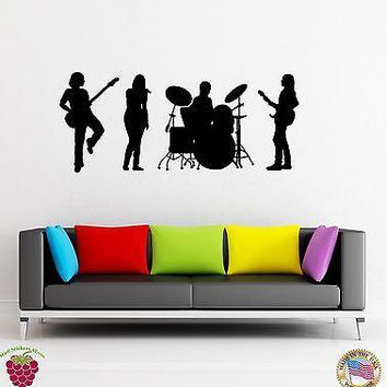 Wall Stickers Vinyl Decal Music Band Jazz Rock Pop Music  Unique Gift (z1626)