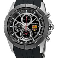 Seiko SNDE81 FC Barcelona Rubber Strap Mens Watch