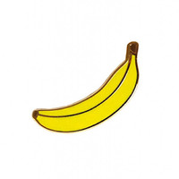enamel banana pin