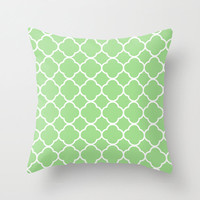 Velveteen Green Quatrefoil Pillow - Green Throw Pillow - Housewares - Home Decor - Housewarming Gift - St Patrick's Day Decorations