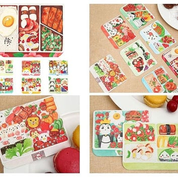 30 lunch box paper card embellishment food art sushi healthy lunch kids lunchbox ideas food planner art journal post card paper gift decor