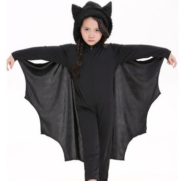 Unisex Children Jumpsuit Bat Halloween Uniform [9220888644]