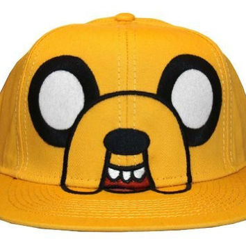 Adventure Time Jake Bioworld Cartoon Network Snapback Cap Hat (Yellow/Black)