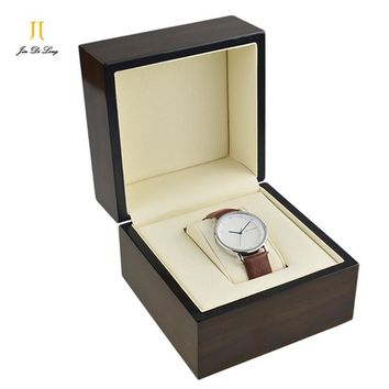 Vintage Wood Watch Box Wristwatch Organizer Watch Case Gift Box For Watches Better Than Leather Glasses Watch Display Box