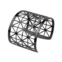 Geometric Stainless Steel Cuff - Arm Band in 3 Color Options - Arm Cuff - Caged Cuff - Geometric Mesh Cuff - Bangle Bracelet - TheFigGarden