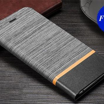 Fashion Contrast Color Buid-in Manganese steel Flip Leather Stand Case with Card Slots for OnePlus 5 XiaoMi Mi Max XiaoMi Max 2
