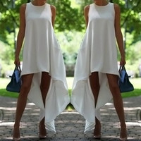 White Sleeveless Summer Dress