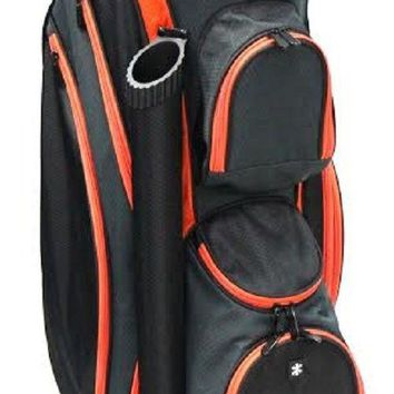 "New RJ Sports 9"" Lightweight  Golf Cart Bag - Black/Orange DS-590"