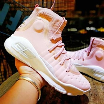 "Under Armour Curry 4 ""Flushed Pink"" Basketball Shoe"
