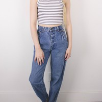 Vintage (XS) 70s High Waisted Denim Jeans