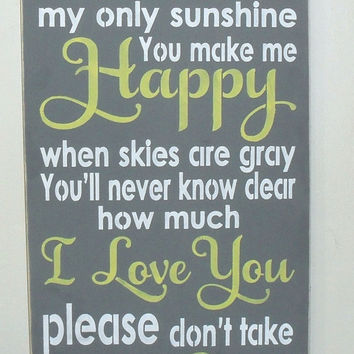 Shop Wall Signs With You Are My Sunshine On Wanelo