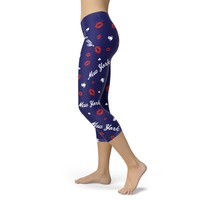 New York Giants Lovin Kisses Football Capris