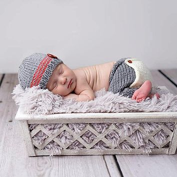 Baby Newborn Photography Props Accessories Children's Hats Crochet Knit Costume Crochet Baby Hat Caps Photo Props