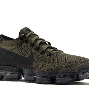 Men's Nike Air VaporMax Flyknit Running Shoes (Cargo Khaki/Black/Med Olive/Dark Grey)