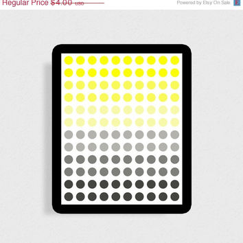 BIGSALE Gray and yellow decor Living room decor Colorful print Instant download 8x10 print Wall decor Living room print Home decor print