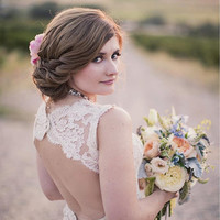 Reserved listing for Berry Custom make lace wedding dress