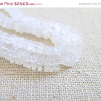 42% Off AAA White Moonstone Gemstone Square Cut Faceted Rondelle Heishi Cube 6mm 105 beads LAST
