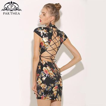 Parthea Metallic Floral Dress Gold Spray Printed Sexy Summer Dre. Gender  Women  Dresses ... 29d07262a8f1