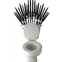 Game of Thrones Iron Throne inspired Parody Toilet sword Decal
