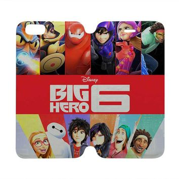BIG HERO 6 Disney Wallet Case for iPhone 4/4S 5/5S/SE 5C 6/6S Plus Samsung Galaxy S4 S5 S6 Edge Note 3 4 5