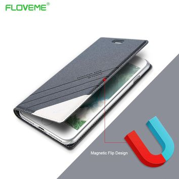 FLOVEME Brand Fashion Cover for iPhone 5 5S 5G SE Phone Accessories Stand Card Holder Luxury Leather Flip Cases for iPhone 5S SE