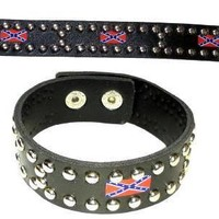 Confederate 2 Snap bracelet 4 flags