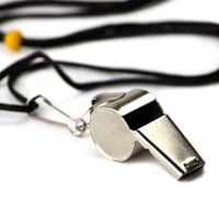 Crown Stainless Steel Coach Whistle with Lanyard | deviazon.com