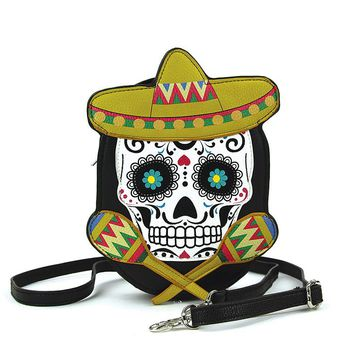 Sugar skull Day Of The Dead Crossbody Bag Purse