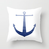 Deep Blue Sea Throw Pillow by Rachel Sample