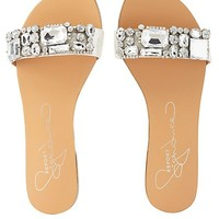 REPORT SIGNATURE JEWELED SLIDE SANDALS