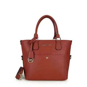 MK Michael Kors Women Shopping Bag Leather Satchel Handbag Shoulder Bag Crossbody Collapsible Bag G-LLBPFSH-1