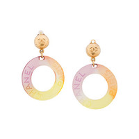 Chanel Vintage Logo Hoop Earrings - Farfetch