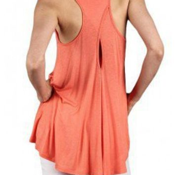 CORAL UNBALANCED SOLID TOP @ KiwiLook fashion