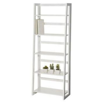 Dolce 5 Shelf Large Folding Bookcase - White