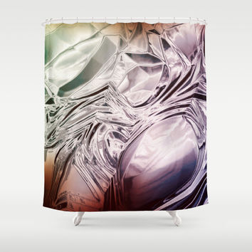 FLOW / FROZEN Shower Curtain by Nirvana.K | Society6