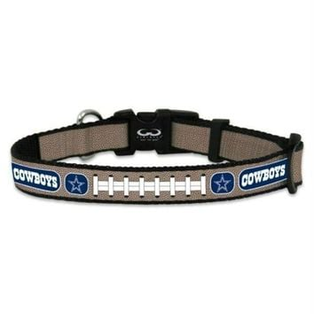 PEAPB5F Dallas Cowboys Reflective Football Pet Collar