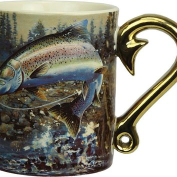 Coffee Mug - Rainbow Trout Scene 3D 15oz