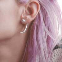Strong Character Punk Stylish Pearls Alloy Innovative Earrings [9377835655]