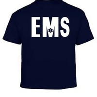 Emergency Medical Service Navy Blue Kids T-Shirt