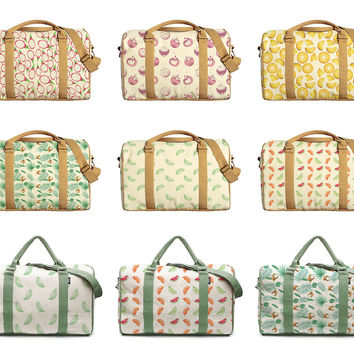 Watercolor Fruit Patterns Printed Canvas Duffle Luggage Travel Bag WAS_42
